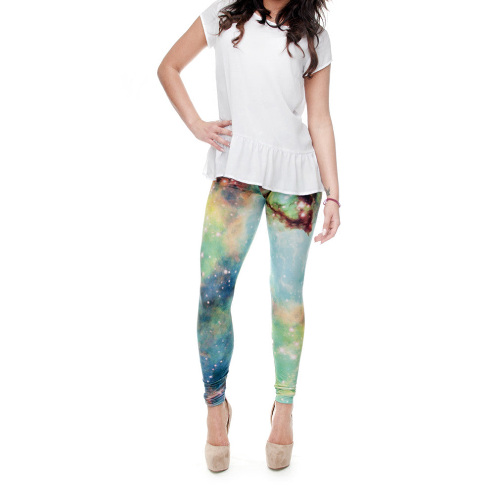 Robert Matthew Galaxy Stars Print Leggings
