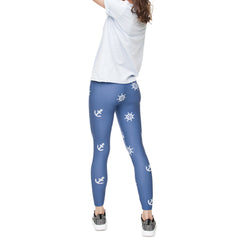 Robert Matthew One Size Print Leggings - Anchors Away