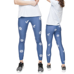 Robert Matthew Anchors Away Print Leggings