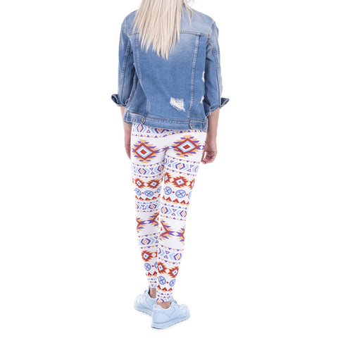 Robert Matthew One Size Print Leggings - Indian Aztec