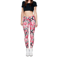 Robert Matthew One Size Print Leggings - Flower Power