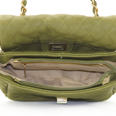 Robert Matthew Bella Crossbody Shoulder Bag - Olive Green