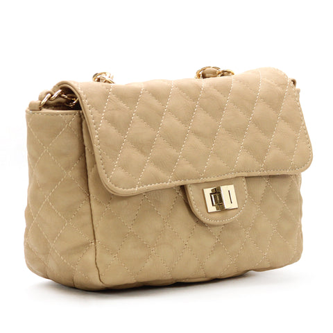 Robert Matthew Bella Crossbody Shoulder Bag - Tan