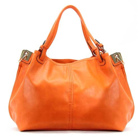 Robert Matthew Emily Shoulder Tote - Orange