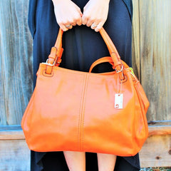 Robert Matthew Emily Shoulder Tote - Orange - Robert Matthew  - 5