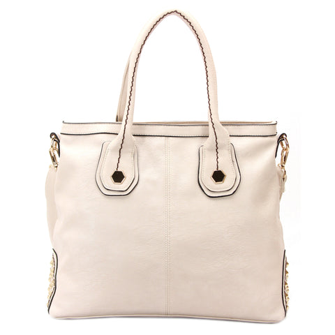 Robert Matthew Hannah Shoulder Tote - Beige