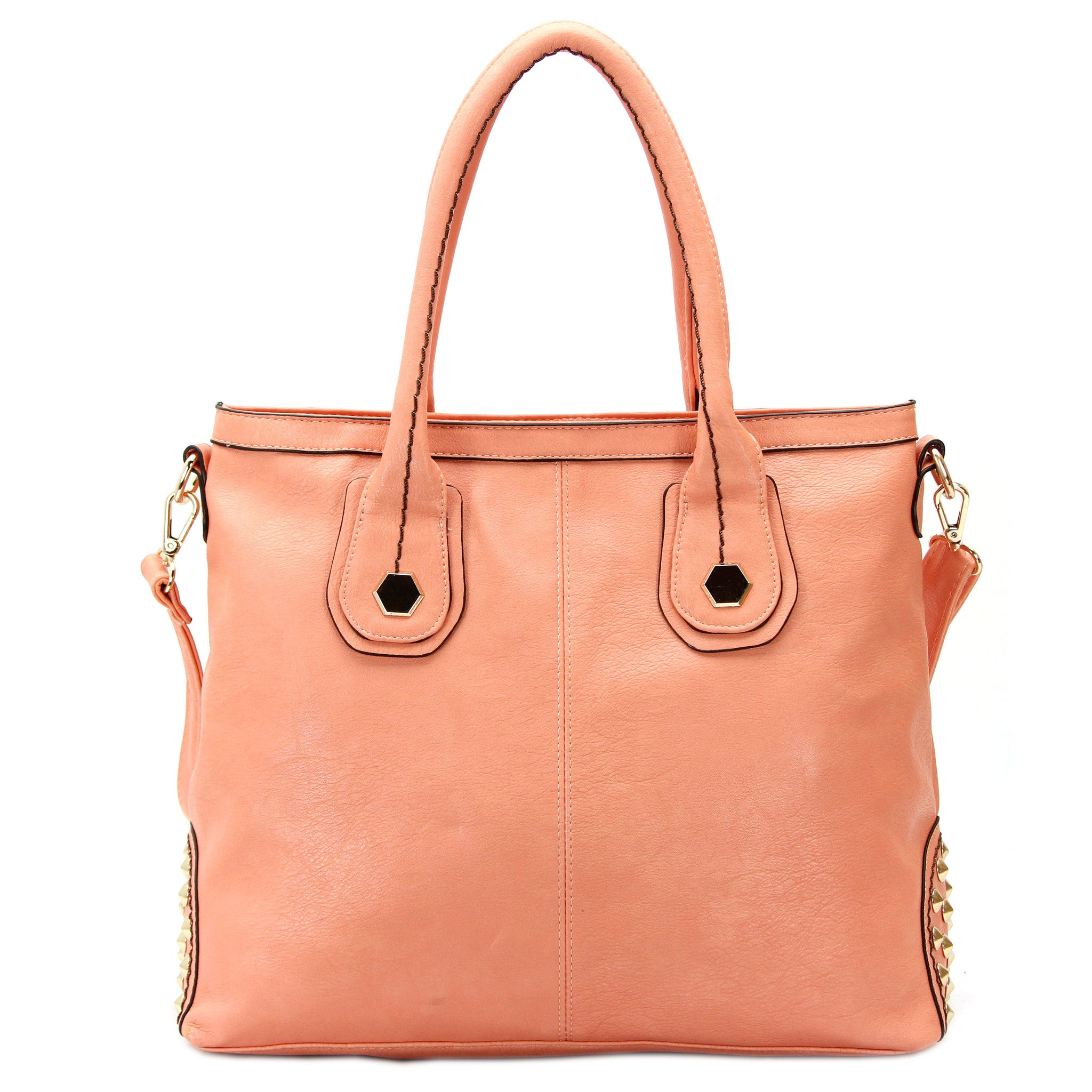 Robert Matthew Hannah Shoulder Tote   Peach