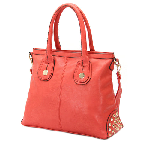 Robert Matthew Hannah Shoulder Tote - Peach