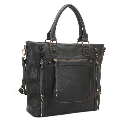 Robert Matthew Olivia Shoulder Tote - Black - Robert Matthew  - 1