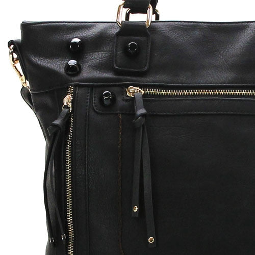 Robert Matthew Olivia Shoulder Tote - Black - Robert Matthew  - 4