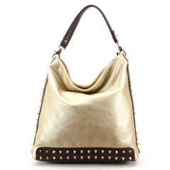 Robert Matthew Mckenzie Shoulder Bag - Champagne - Robert Matthew Handbags and Fashion