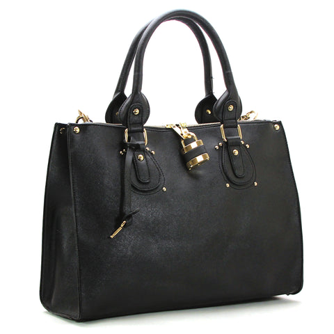 Robert Matthew Natalie Shoulder Tote - Black