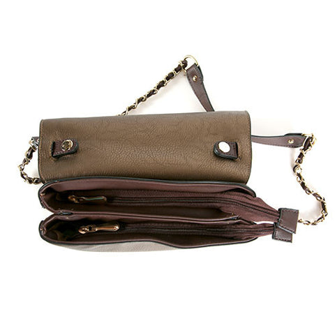 Robert Matthew Ava Crossbody Shoulder Bag - Nude