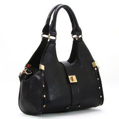 Robert Matthew Stella Satchel Tote - Black