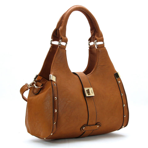 Robert Matthew Stella Satchel Tote - Chocolate