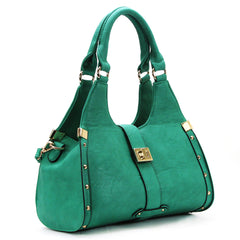 Robert Matthew Stella Satchel Tote - Emerald - Robert Matthew  - 1