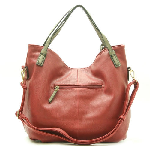 Robert Matthew Abby Hobo Tote - Rouge Red - Robert Matthew Handbags and Fashion
