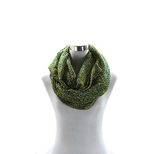 Robert Matthew Brooklyn Blossom Scarf   Teal