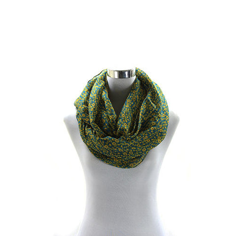 Robert Matthew Brooklyn Blossom Scarf - Teal