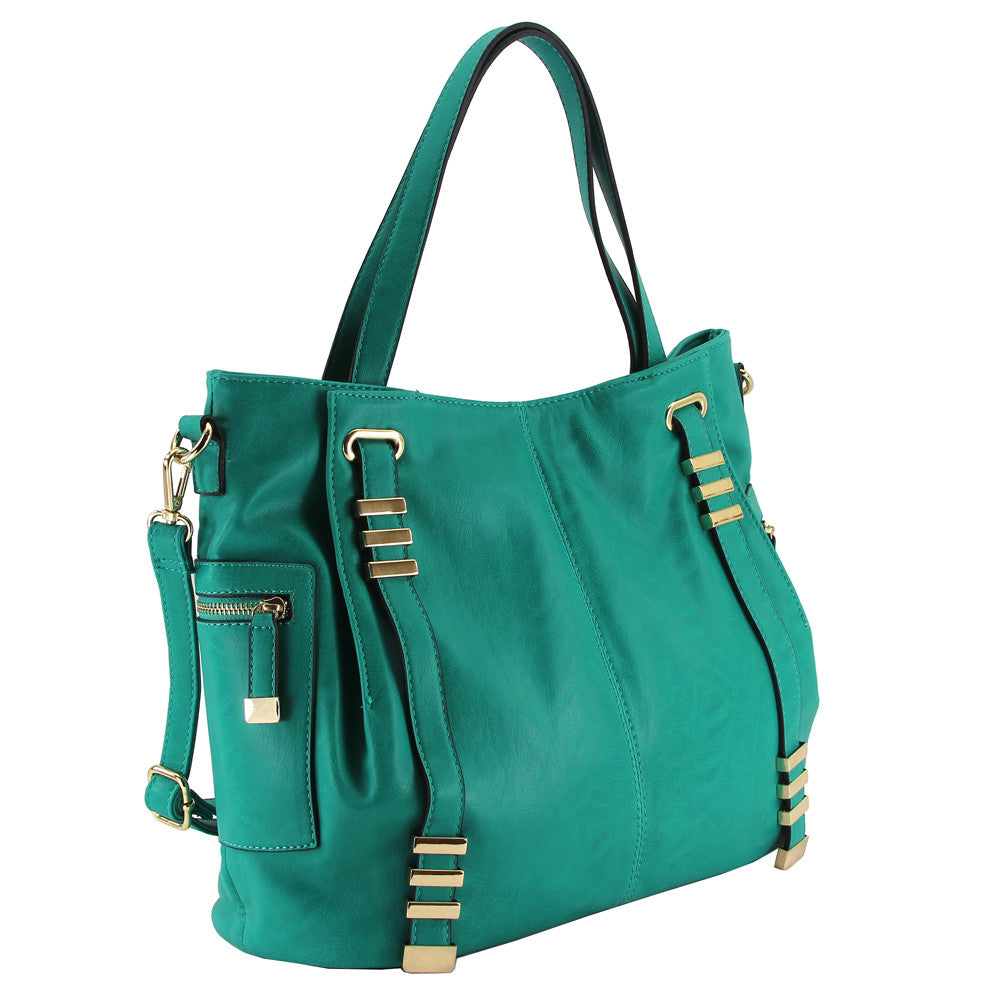 Robert Matthew Grace Tote - Emerald Green