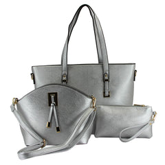 Robert Matthew 3-in-1 Ella Tote - Metallic Silver
