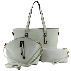 Robert Matthew 3-in-1 Ella Tote - White
