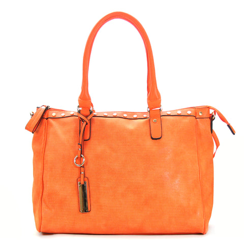 Robert Matthew Giana Tote - Tangerine - Robert Matthew Handbags and Fashion