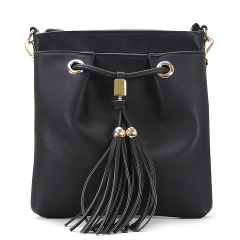 Robert Matthew Kaylee Crossbody Shoulder Bag in Black