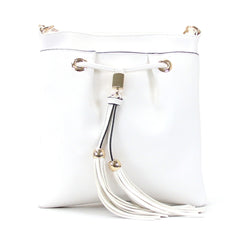 Robert Matthew Kaylee Crossbody Shoulder Bag in White - Robert Matthew Handbags and Fashion