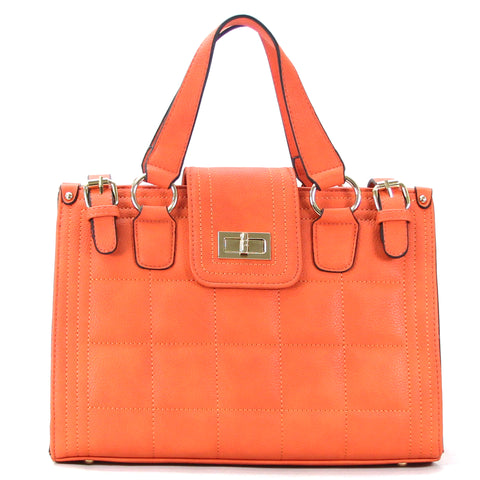 Robert Matthew Hayden Shoulder Tote in Orange - Robert Matthew Handbags and Fashion