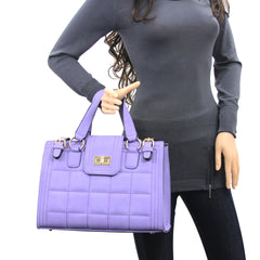 Robert Matthew Hayden Shoulder Tote in Lavender - Robert Matthew  - 5