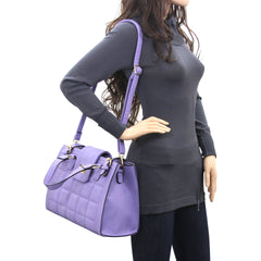 Robert Matthew Hayden Shoulder Tote in Lavender - Robert Matthew  - 7