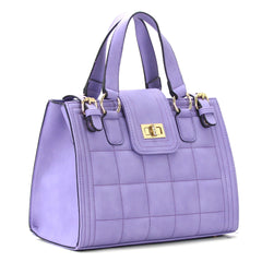 Robert Matthew Hayden Shoulder Tote in Lavender - Robert Matthew  - 3