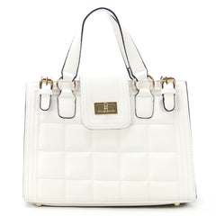 Robert Matthew Hayden Shoulder Tote in White - Robert Matthew Handbags and Fashion