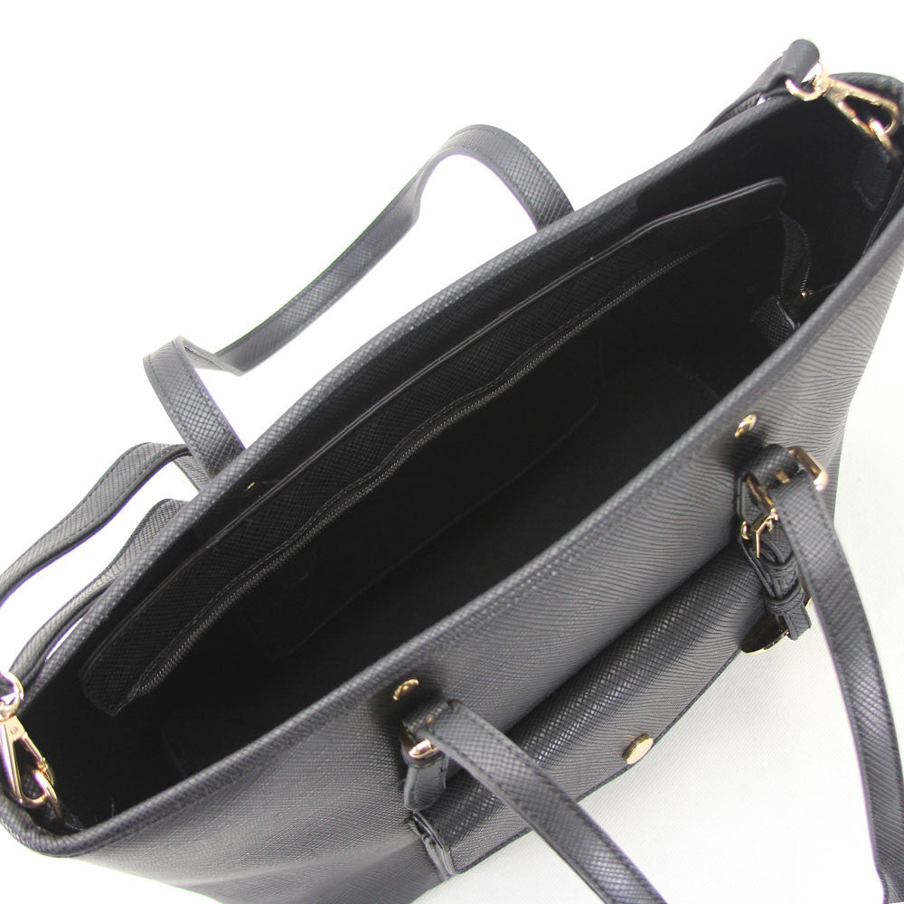 Amelia Shoulder Tote - Black