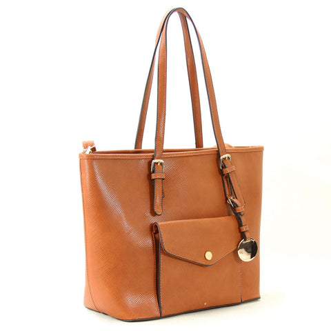 Amelia Shoulder Tote - Brown