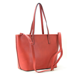 Amelia Shoulder Tote - Red