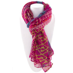 All Styles,Scarves,Scarf - Robert Matthew Harlow Aztec Print Scarf - Pink
