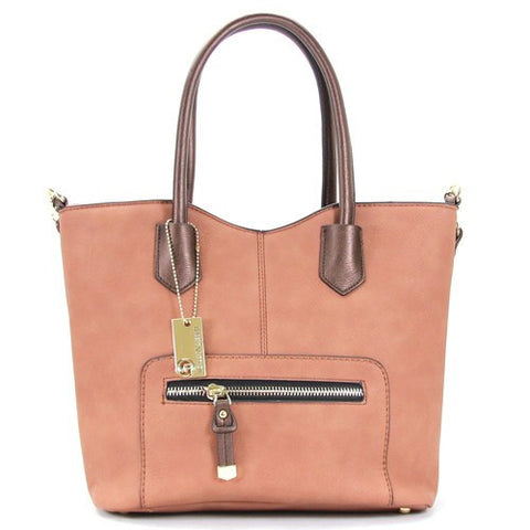 All Styles,Totes,New Arrivals,Shoulder Bags,Tote,Shoulder Bag,Bag - Robert Matthew Heidi Tote - Blush