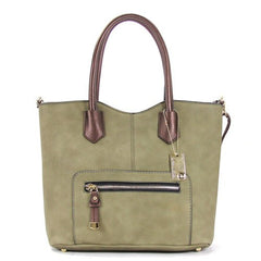 All Styles,Totes,New Arrivals,Shoulder Bags,Tote,Shoulder Bag,Bag - Robert Matthew Heidi Tote - Olive