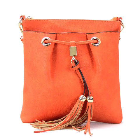 Robert Matthew Kaylee Crossbody Shoulder Bag in Orange