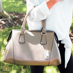 All Styles,Totes,New Arrivals,Shoulder Bags,Tote,Shoulder Bag,Bag - Robert Matthew Rachel Tote - Metallic Copper