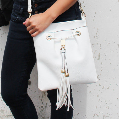 Robert Matthew Kaylee Crossbody Shoulder Bag in White