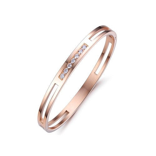 Bracelet, Bangle, Jewelry - Robert Matthew Rose Gold Madison Bangle