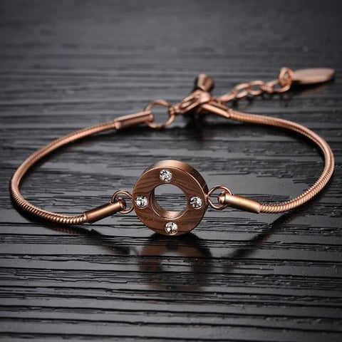 Robert Matthew Rose Gold Lily Bracelet