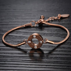 Bracelet, Jewelry - Robert Matthew Rose Gold Lily Bracelet