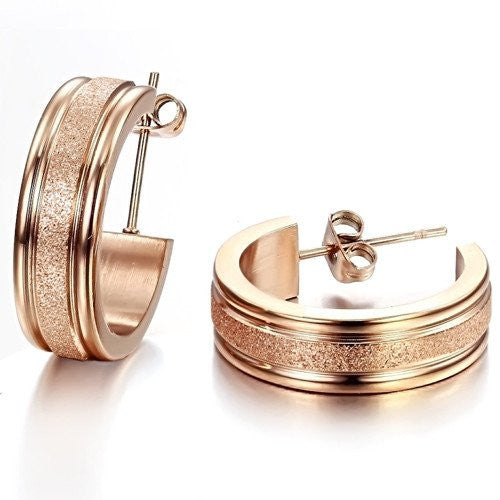 Earrings, Jewelry - Robert Matthew Rose Gold Zoe Hoop Earrings