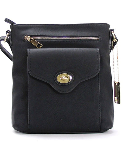 Handbag, Crossbody, Shoulder Bag - Robert Matthew Dakota Crossbody - Black