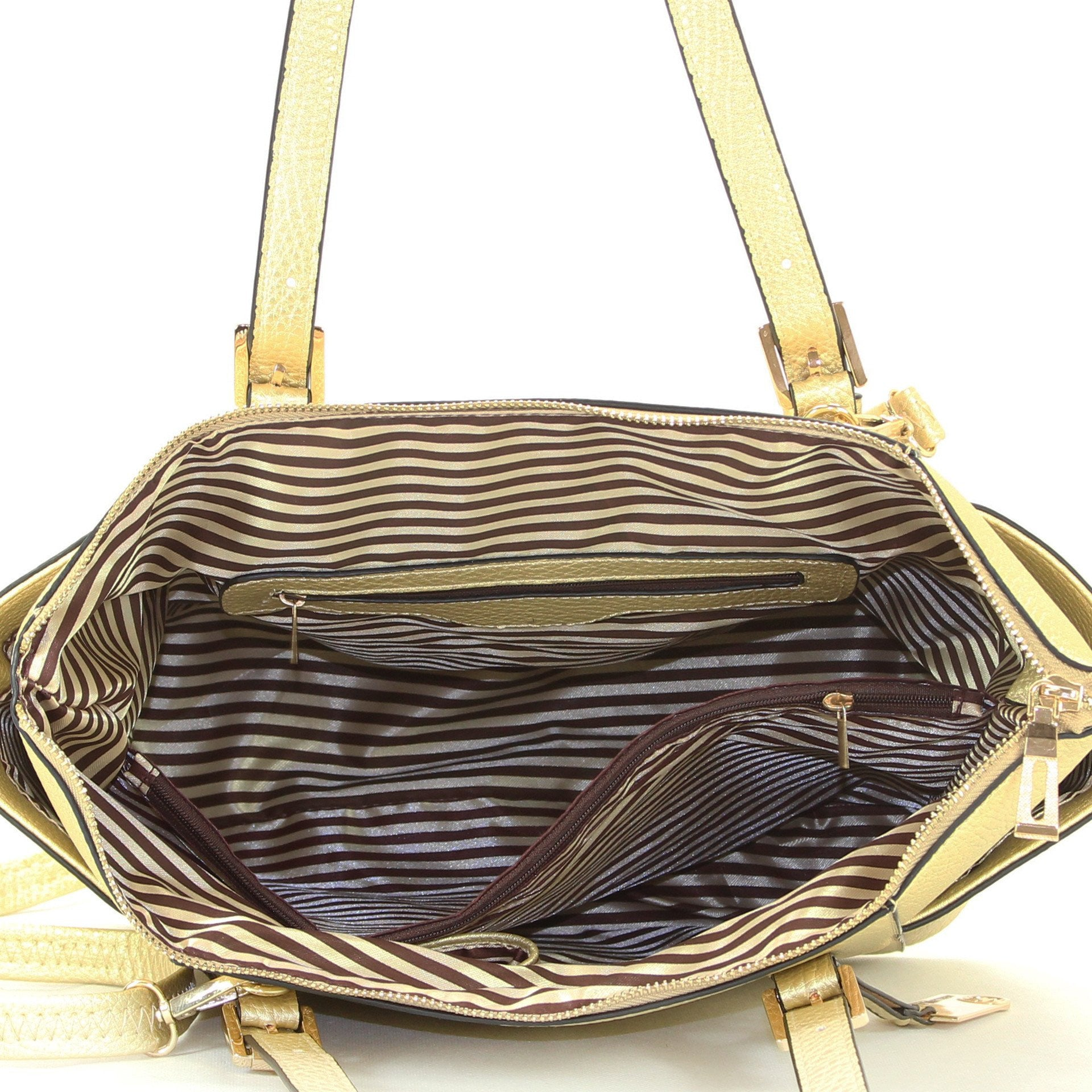 Handbag, Purse, Tote, Shoulder Bag - Robert Matthew Khloe Tote - Gold Flake
