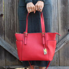Handbag, Purse, Tote, Shoulder Bag - Robert Matthew Khloe Tote - Red Carpet